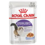Royal Canin Sterilised, кусочки мяса в желе для стерилизованных кошек, 85гр.х12шт.