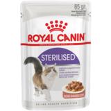 Royal Canin Sterilised, кусочки мяса в соусе для стерилизованных кошек, 85гр.х12шт.