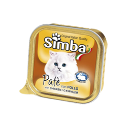 Simba Cat консервы для кошек паштет курица 100 гр.