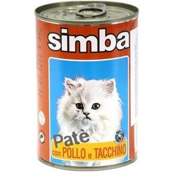 Simba Cat консервы для кошек паштет курица и индейкой 400 гр.