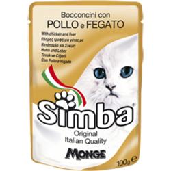 Simba Cat Pouch паучи для кошек курица с печенью 100 гр.
