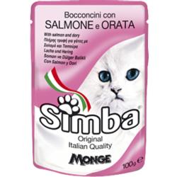 Simba Cat Pouch паучи для кошек лосось с камбалой 100 гр.