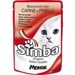 Simba Cat Pouch паучи для кошек мясо с горохом 100 гр.