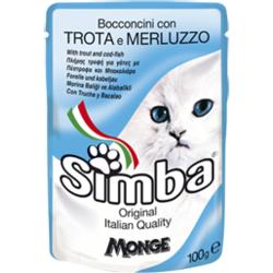 Simba Cat Pouch паучи для кошек форель с треской 100 гр.