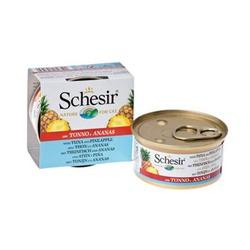 Schesir с тунцом и ананасами, консервированный корм для кошек, 75 гр. х 14 шт.