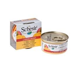 Schesir с тунцом и манго, консервированный корм для кошек, 75 гр. х 14 шт.
