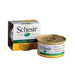 Schesir куриное филе с сурими, кусочки в желе, консервированный корм для кошек, 85 гр. х 14 шт.