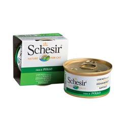 Schesir куриное филе, кусочки в желе, консервированный корм для кошек, 85 гр. х 14 шт.