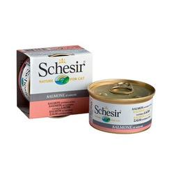Schesir лосось, кусочки в собственном соку, консервированный корм для кошек