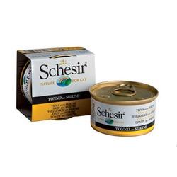 Schesir тунец с сурими, кусочки в желе, консервированный корм для кошек, 85 гр. х 14 шт.