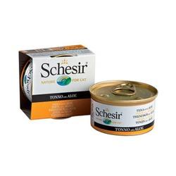 Schesir тунец с алоэ, кусочки в желе, консервированный корм для кошек, 85 гр. х 14 шт.