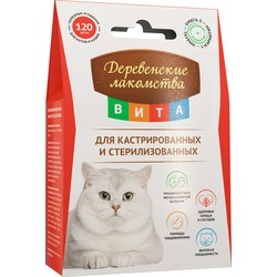 """""""Деревенские лакомства ВИТА"""" для кастрированных и стерилизованных кошек и котов, 60 гр"""