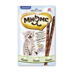 Мнямс лакомые палочки с индейкой для котят, 3 шт. х 13,5 см