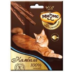 Мнямсик Деликатес лакомые палочки 9 см для кошек с камбалой 3х4 гр.