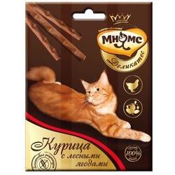 Мнямсик Деликатес лакомые палочки 9 см для кошек с курицей 3х4 гр.