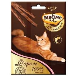 Мнямсик Деликатес лакомые палочки 9 см для кошек с форелью 3х4 гр.