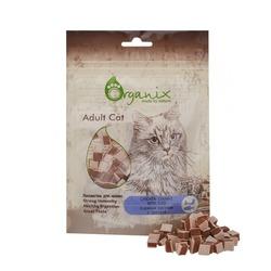 """Organix """"Куриные кусочки с треской"""" кошачье лакомство , 50 гр."""