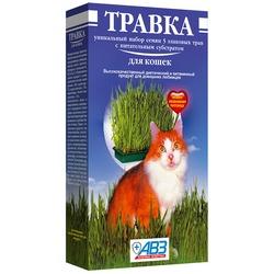 АВЗ Травка для кошек в лоточке, 120 гр.
