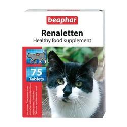 Beaphar Renaletten — Кормовая добавка для кошек с проблемами почек, профилактика МКБ, 75 табл.