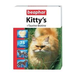 Beaphar Kitty's + Taurin + Biotin — Витаминизированное лакомство для кошек, с таурином и биотином
