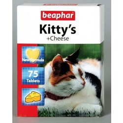 Beaphar Kitty's + Cheese — Витаминизированное лакомство для кошек, со вкусом сыра