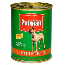 Четвероногий гурман консервы «Мясное ассорти» с говядиной для собак