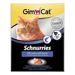Gimcat «Schnurries» Витаминизированные «сердечки» с таурином и лососем с ТГОС для кошек