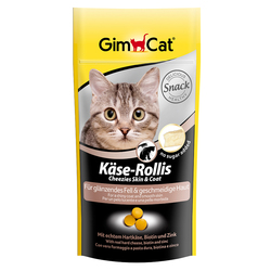 Gimcat «K?se-Rollis» Витаминизированные сырные шарики Кожа+Шерсть для кошек, 40 гр.