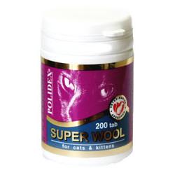 Polidex Super Wool поливитаминно-минеральный комплекс для улучшения состояния кожи, шерсти, когтей и профилактики дерматитов, 200 табл.