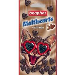 Beaphar Malt-Hearts Средство для выведения шерсти из желудка для кошек, в форме сердечек, 150 шт.