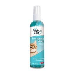 8in1 освежающий спрей против спутывания шерсти для кошек Freshening Spray Baby Powder, 118 мл