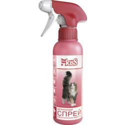 Ms. Kiss Увлажняющий спрей для кошек с антистатическим эффектом для облегчения расчесывания, 200 мл.