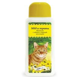 Pchelodar шапмунь гигиенический для кошек с мёдом и чередой (250 мл), арт.63329