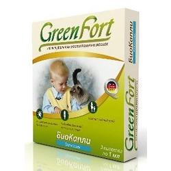 Green Fort БиоКапли от блох для кошек (3 пипетки)