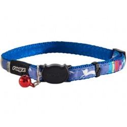 """Rogz Ошейник с застежкой для кошек NeoCat """"Голубые леденцы"""", ширина 1,1см, размер 20-31см"""