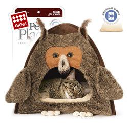 "Gigwi ДОМИК ""СОВА"" для кошек и маленьких собак, 40 х 45 см арт.75061"