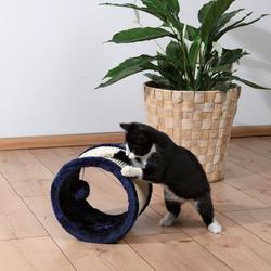 "Trixie Когтеточка ""Колесо"" диаметр 23 см, сизаль/плюш, темно-синий , арт. 4324"