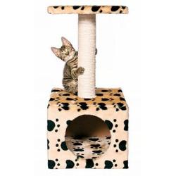 "Trixie Домик д/кошек ""Zamora"" с площадкой ""кошачьи лапки"", бежевый 61см, арт. 43354"
