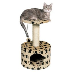 "Trixie Домик д/кошек ""Toledo"" кошачьи лапки, бежевый высота 61см, арт. 43704"