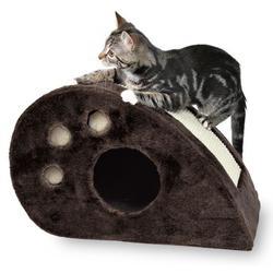 "Trixie Домик д/кошек ""Topi"" с когтеточкой, серый, плюш 53*31*32см, арт. 4358"