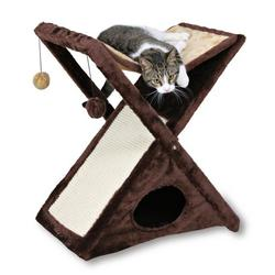 "Trixie Домик д/кошек ""Miguel"" плюш, коричневый/беж 50*62*39см, арт. 44770"