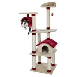 """Trixie Домик для кошки """"Marissa"""" 164см бежевый/красный, арт. 44881"""