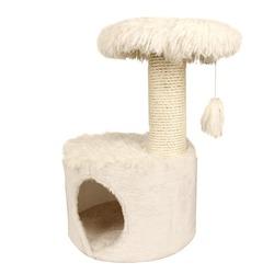 СКИДКА 35% Zolux Домик с когтеточкой для кошек «YETI One» белый