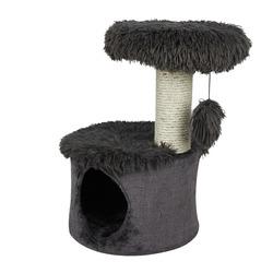 СКИДКА 35% Zoluх Домик с когтеточкой для кошек «YETI One» серый