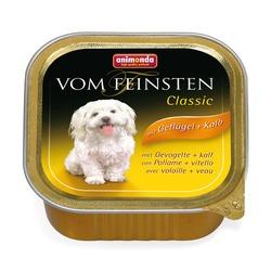 Animonda с мясом домашней птицы и телятиной Vom Feinsten Classic консервы для собак, 150 гр. х 22 шт.