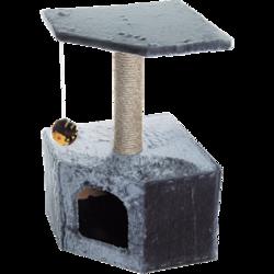 Зооник домик-когтеточка угловой