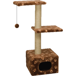 Зооник домик-когтеточка с двумя площадками