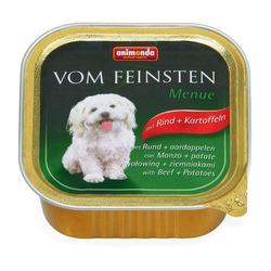Animonda с говядиной и картошкой Vom Feinsten Menue консервы для собак, 150 гр. х 22 шт.