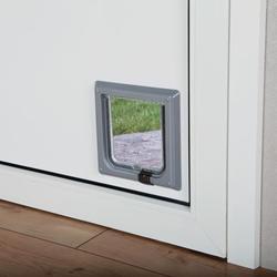 Trixie Дверца для кошки (14,7 ? 15,8см), пластик, серый, арт. 38602
