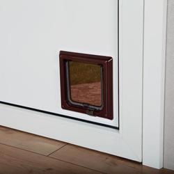 Trixie Дверца для кошки (14,7 ? 15,8см), пластик, коричневый, арт. 38603
